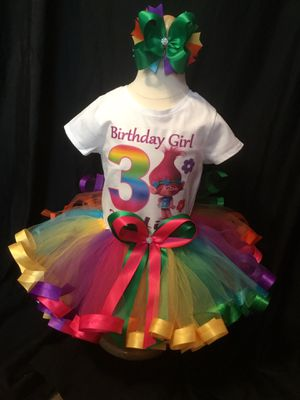Little girls and made trolls Tutu Outfit for Sale in Indianapolis, IN