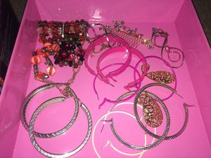 fantasy jewelry, hoops, earrings and bracelets for Sale in Holtville, CA