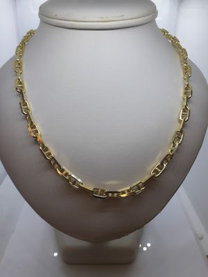 "14k yellow gold mariner link necklace chain 6mm 50.9 grams 22"" for Sale in Fort Pierce, FL"