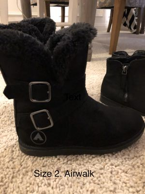 Black Boots. Girls size 2. Airwalk. for Sale in Stockton, CA