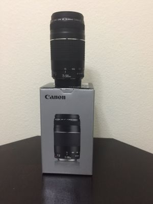 Canon lense 75-300 for Sale in Kissimmee, FL