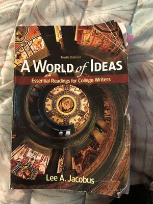 a world of ideas essential readings for college writers 10th edition for Sale in Los Angeles, CA