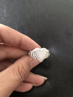 925 sterling silver heart ring size 6 or 8 for Sale in Philadelphia, PA