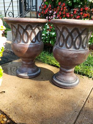 Tall flower pots for Sale in Garland, TX