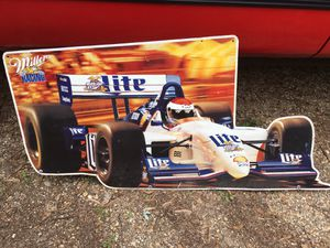 Miller lite in the car sign metal about 2' x 3' $50 for Sale in Varna, IL