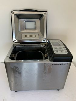 BREADMAN ULTIMATE PLUS Model TR2500BC Black/Stainless Bread Maker Tested Works for Sale in San Diego,  CA