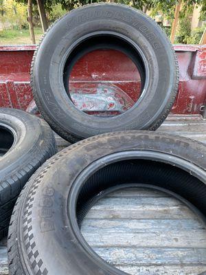 4 good truck tires Bridgestone and blacklion 265/70 r17s for Sale in Fontana, CA