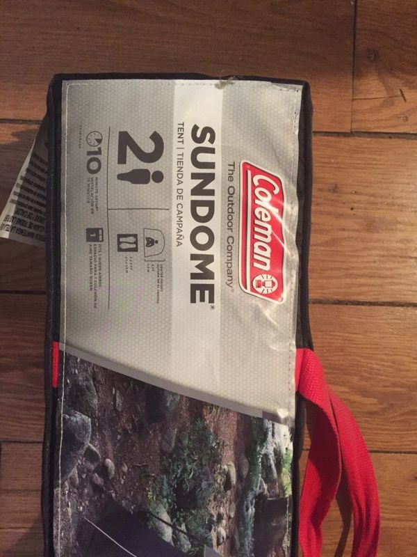 Coleman two man camping tent