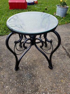 Rod Iron And Glass Table for Sale in New Orleans, LA