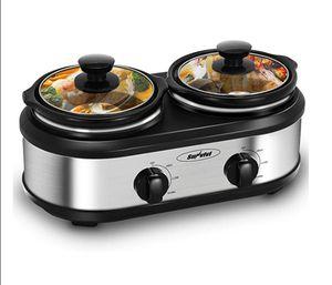 Slow Cooker, Dual Pot Slow Cooker Buffet Server 2 Pot Small Mini Crock Pot Food Warmer, 2-Section 1.25-Quart Oval Slow Cook for Sale in Jacksonville, FL
