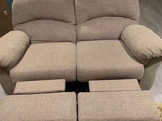 Lane Fabric Recliner Love Seat $100 for Sale in Edison,  NJ