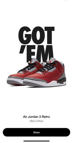 Jordan retro 3 Chi Edition *deadstock for Sale in Chicago, IL