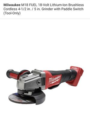 Milwaukee M18 FUEL Brushless 4-1/2 in. / 5 in. Grinder for Sale in Los Angeles, CA