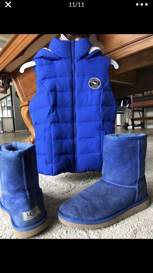 UGG CLASSIC BOOTS SIZE 4 AND ABERCROMBIE VEST SIZE kids Large for Sale in Babson Park, FL