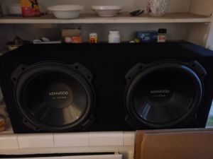 """One Year Old 12"""" Kenwood Subwoofers X2 for Sale in Pasadena, CA"""