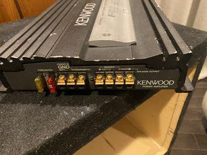 Amplificador kENWOOD 600 watts 2 canales con entrada de alta a baja for Sale in Industry, CA