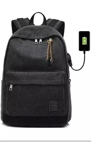 TrustBag: Laptop Backpack Adults/teens External USB (Black) Comes With USB Cable for Sale in Fresno, CA