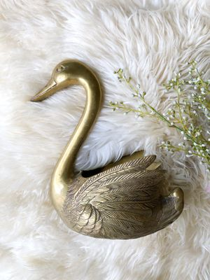 Vintage brass swan planter / eclectic boho decor for Sale in Hillsboro, OR