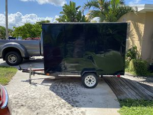 "4 x 8 Custom made Enclosed landscape/cargo trailer swing rear door dimension 31""wide x 64"" Tall for Sale in Hollywood, FL"