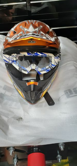HJC motocross helment size small youth great shape for Sale in Las Vegas, NV