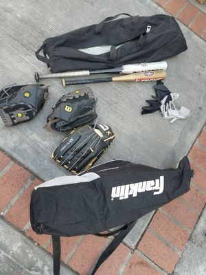 Baseball bat,gloves and bags for Sale in Los Angeles, CA