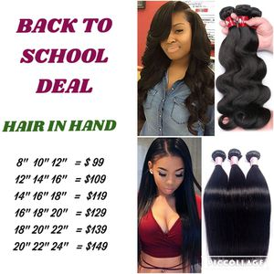 Brazilian virgin human hair 3 bundle special body wave and straight hair BACK TO SCHOOL DEAL for Sale in Tucker, GA