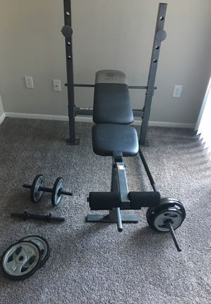 Workout bench w/ weights for Sale in Greenwood Village, CO