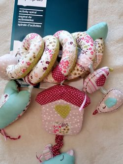 Mamas and Papas Activity Spiral Baby Soft Toy. Stroller Toy. Baby Rattle. Baby Car seat toy. for Sale in Riverside, CA