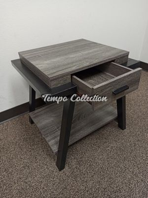 End Table with One Drawer, Distressed Grey, SKU# ID182339ET for Sale in Norwalk, CA