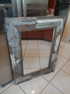 Gorgeous Hobby Lobby 30 x 40 Distressed Rustic Wooden Home Decor Hanging Mirror for Sale in Orlando, FL
