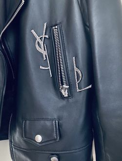 yves saint laurent leather jacket for Sale in Miami,  FL