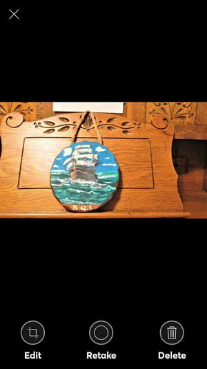 ClipperShip Hand Painted Solid Wood Plaque for Sale in Lynchburg, VA