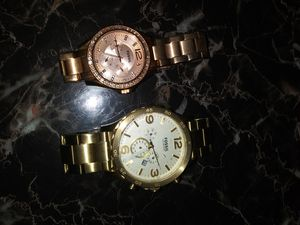 His & hers fossil watches for Sale in Philadelphia, PA
