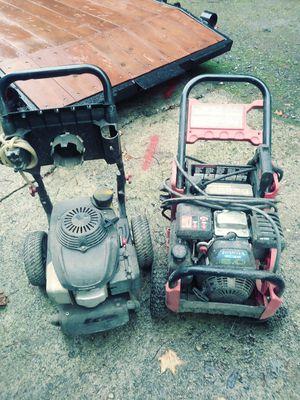 2 - 2700psi pressure washers parts or fix for Sale in Everett, WA