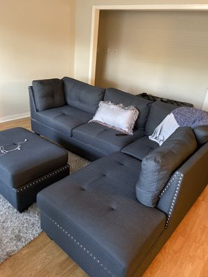 Living room set couch 2 arm chairs and ottoman for Sale in Houston, TX