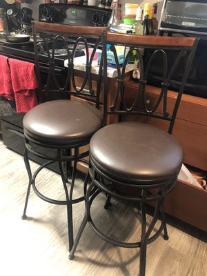 Two Brown Bar Stools for Sale in Phoenix, AZ