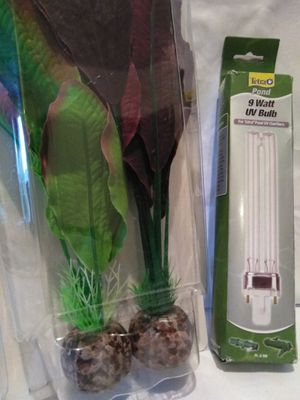 Fish Tank Decor & UV bulb for Sale in Las Vegas, NV