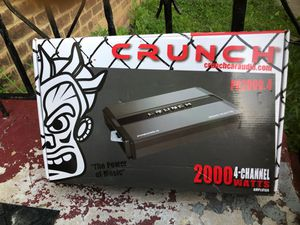 Crunch amplifier: four channel *PICK UP ONLY* maple heights for Sale in Maple Heights, OH