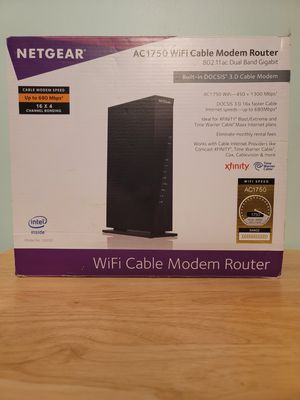 Netgear AC1750 WiFi Cable Modem Router for Sale in Sharpsburg, PA