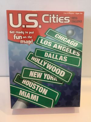 US Cities Trivia Board Game Ages 10 and Up 2-4 Players for Sale in Horseshoe Beach, FL