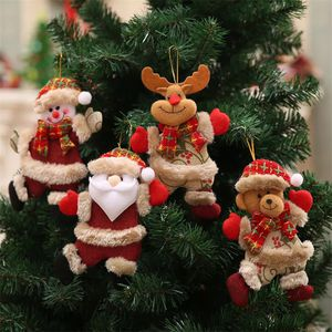 Christmas Tree Doll Hang Decorations Ornaments Santa Claus Elk Bear Xmas Decor for Sale in Boca Raton, FL
