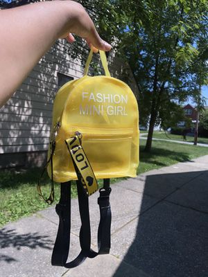 see through yellow Backpack ! For kids for Sale in Cleveland, OH