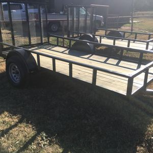 NEW. Shop Built 6 x 12 Single Axle Utility Trailer W/Ramp. 3500 Lb Axle . Read Ad. $1350 Cash Firm . Cash Only . Meet For Pickup Only for Sale in Fort Worth, TX