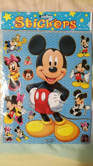 Mickey Mouse Stickers, Pooh & Tigger Notebook, Piglet Pin for Sale in Alhambra, CA