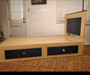 Nice ASHLEY FURNITURE bed frame with 2 drawers in good condition all drawers working well. for Sale in West Springfield, VA
