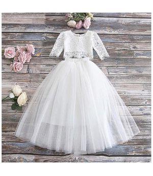 Toddler Girl Flower Girl Dress 2T(White Lace and Tulle Skirt Set ) for Sale in Irvine, CA