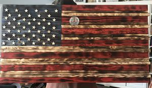 Wooden American flag / coin holder for Sale in Albuquerque, NM