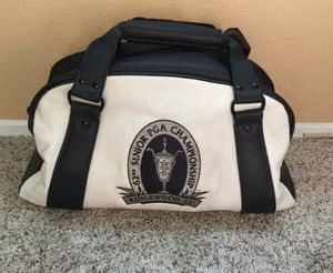 62nd annual PGA senior championship leather golf bag duffle for Sale in Santee, CA