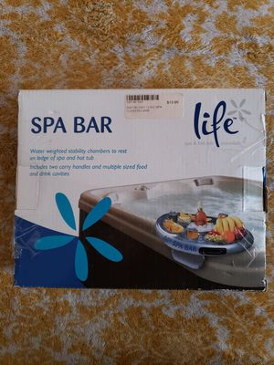 Life Floating Spa Bar Inflatable Hot Tub Side Tray for Drinks and Snacks for Sale in Montclair, CA