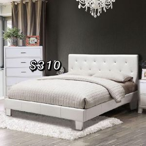 Queen bed frame and mattress included for Sale in South Gate, CA